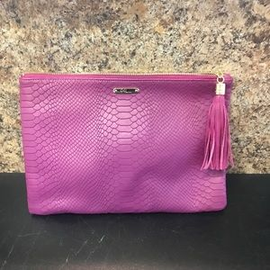 NWT GiGi New York python embossed clutch